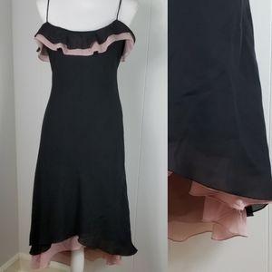 Bisou Bisou : Feminine Slinky Ruffle Dress
